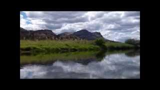 John Day River and Cascade Range, Oregon - June 2013