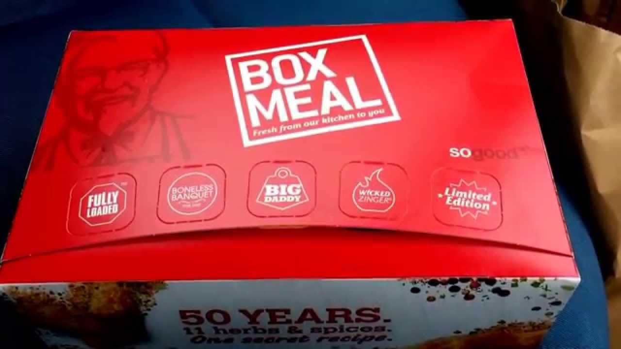 KFC BBQ bacon boss box meal - YouTube