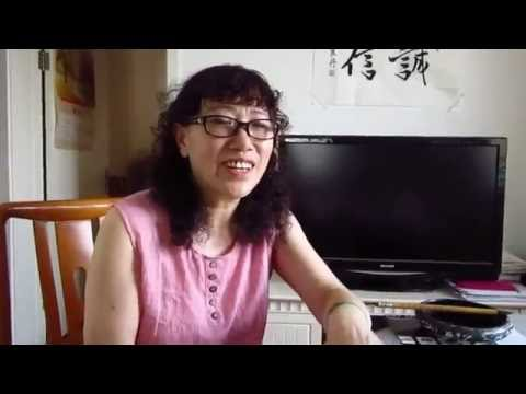 Haiying in Beijing 2016 - Chat with a calligraphy teacher