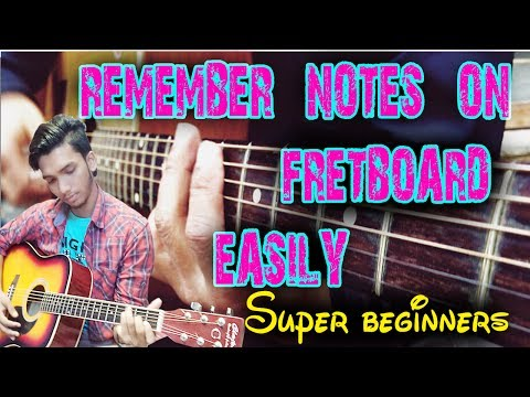 How To Remember all Notes On Guitar Fretboard - Easy Formulae for SuperBeginners Lesson In Hindi