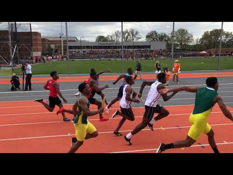 Tennessee Relays 2018 4x100 Christian Coleman, Justin Gatlin