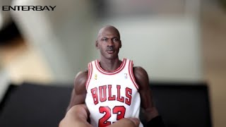 Enterbay NBA Michael Jordan 1/6 scale HD Unboxing and Review - GOAT