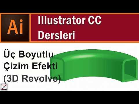 Illustrator 3 Boyutlu çizim, 3d çizim Efekti, 3d Revolve Kullanımı Ders 7.4