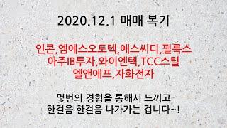 12월 1일 매매 복기 (대영포장,종근당바이오,한송네오…