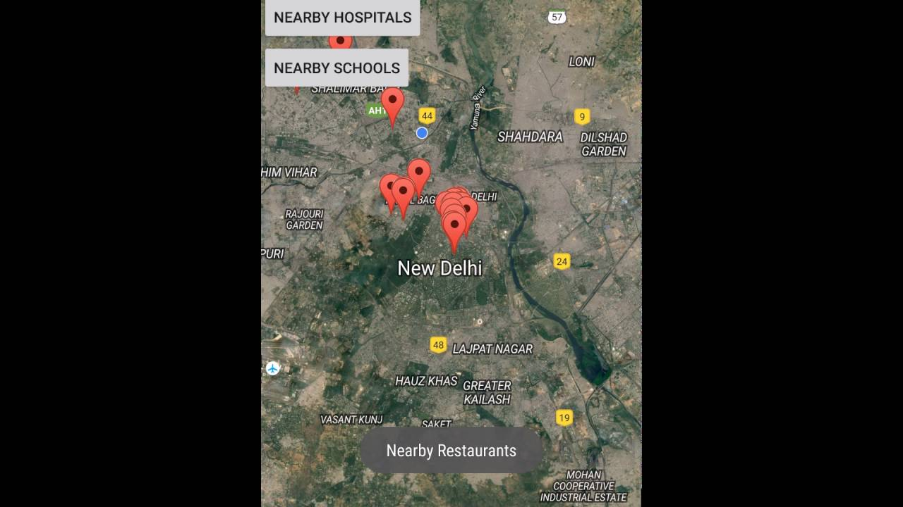 google maps search nearby displaying nearby places using google places api and google maps api v2