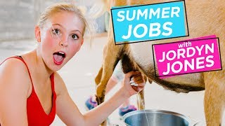 JORDYN JONES MILKS A GOAT | Summer Jobs w/ Jordyn Jones
