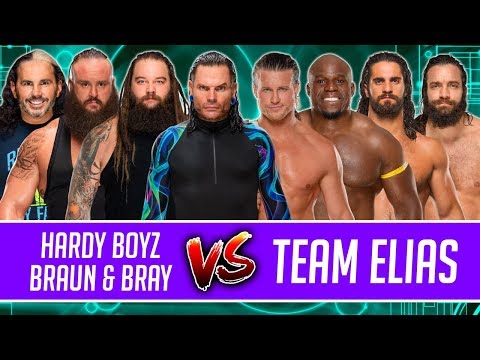 Jeff Hardy & Matt Hardy & Braun Strowman & Bray Wyatt vs. Elias & Rollins & Apollo Crews & Ziggler