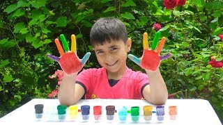 LEARN COLORS FOR CHILDREN BODY PAINT FINGER FAMILY SONG NURSERY RHYMES LEARNING COLORS WITH ME