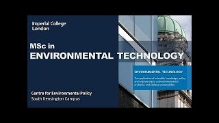 The Imperial College MSc in Environmental Technology (2018)