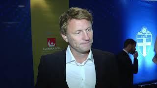 Kennet Andersson utmanar reportern på fotbollsgalan