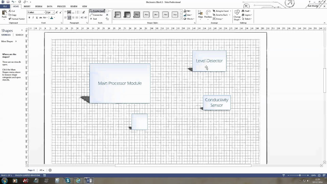 visio 2013 connector points [ 1280 x 720 Pixel ]