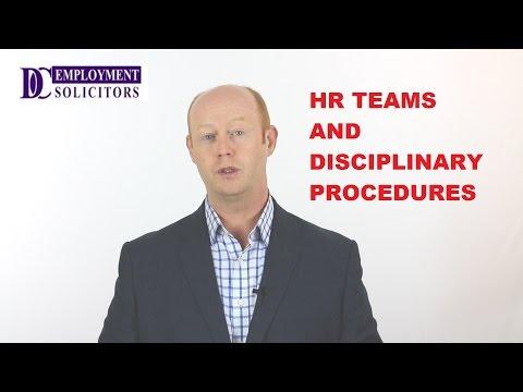 HR Teams and Disciplinary Procedures