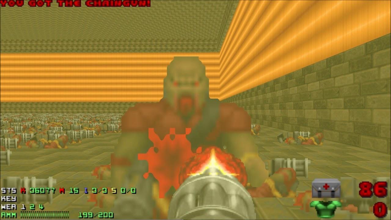 Doom 2 Chaingunner Room Uv Max In 239 Chaingunner Meltdown Youtube
