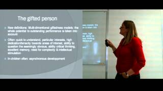 Marie-Lise Schläppy: Are all gifted people also highly sensitive? Part I - Seminar.