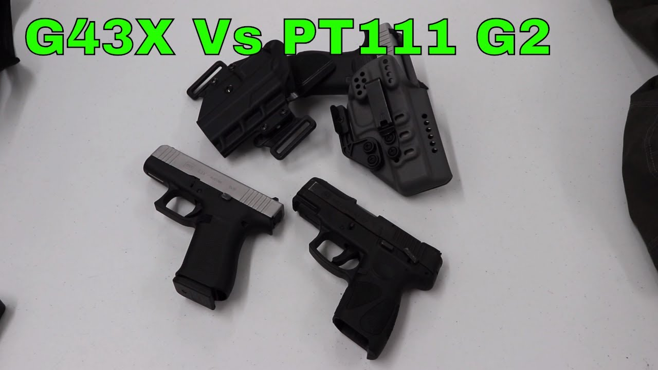 Size and Trigger Comparison: Glock 43x vs Taurus PT111 G2