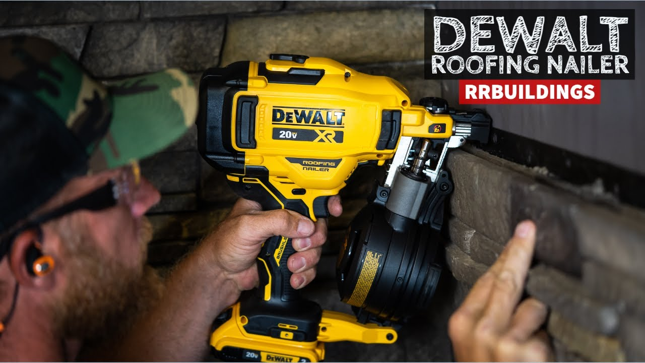 Brand New Dewalt 20v Battery Powered Coil Roofing Nailer Toolsday Youtube