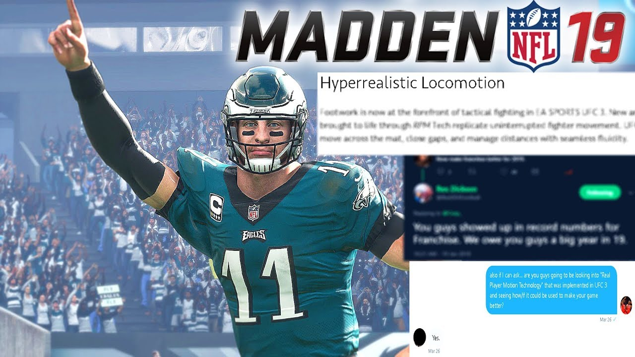 MADDEN 19 EXCLUSIVE NEWS (GAMEPLAY, MOTION TECH & FRANCHISE) CONFIRMED DETAILS FROM EA!!!