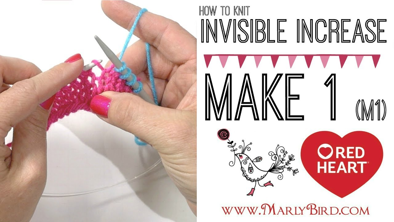 Knitting How To Make 1 M1 Invisible Increase Youtube