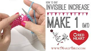 Knitting How to: Mąke 1 M1 Invisible Increase