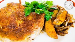 Most Crispy Juicy Pork Chop Recipe - In the WORLD with Pear Onion Marmalade