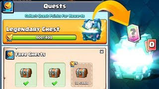 QUESTS ARE HERE! LEGENDARY CHEST REWARDS + MORE | Clash Royale