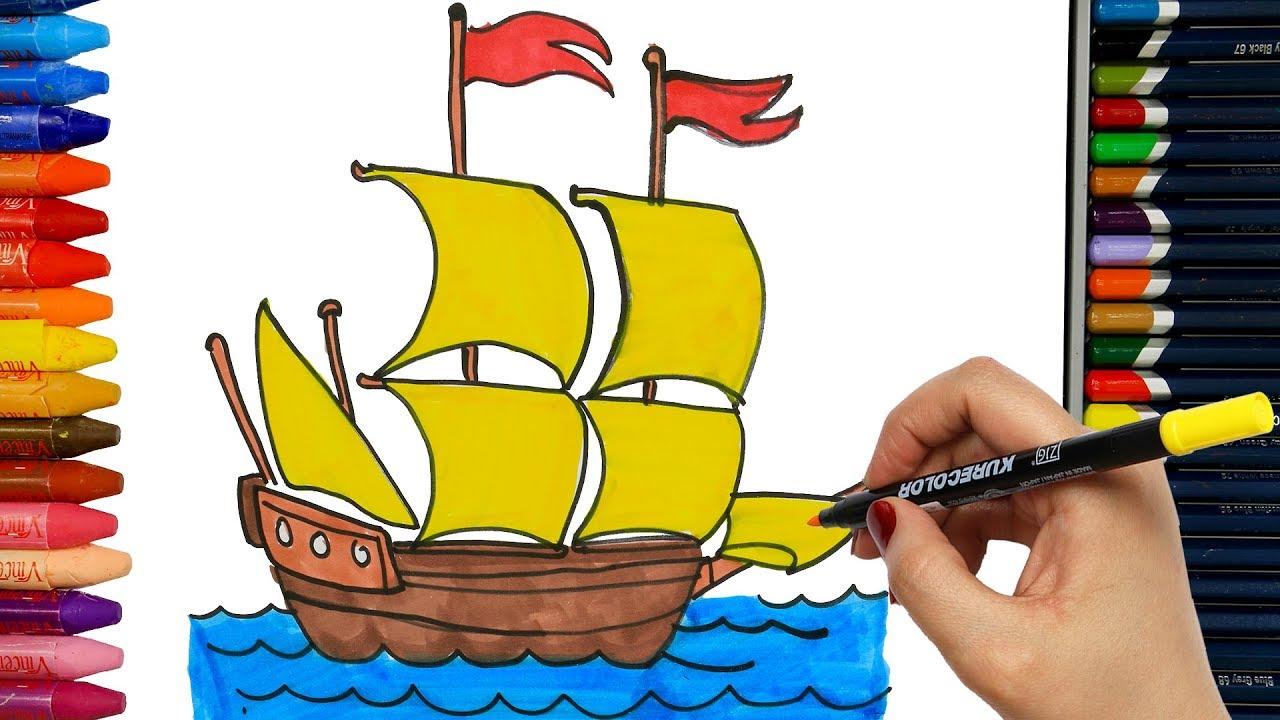 Come Disegnare E Colorare Nave Disegnare Come Colorare Per