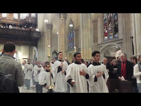 Sunday Mass at St Patrick's Cathedral New York City Feb 4 2018