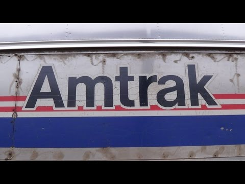 Heritage Baggage Car on Amtrak #6 at Ottumwa Station
