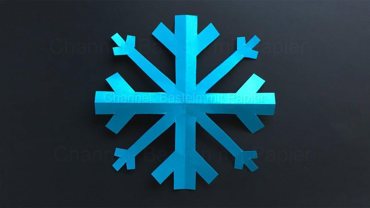 Schneeflocken basteln mit Papier ❄ Deko selber machen für den Winter - Einfache Bastelidee
