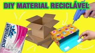 DIY - 5 Ideias com MATERIAL RECICLÁVEL que vão te surpreender -  Lixo ao Luxo