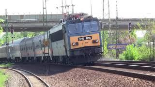 Vonatok Nyíregyházán tavasszal / trains in Nyíregyháza in spring