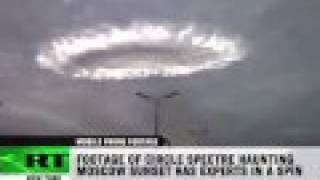Doomsday sign or UFO? Strange circle in Moscow sky thumbnail