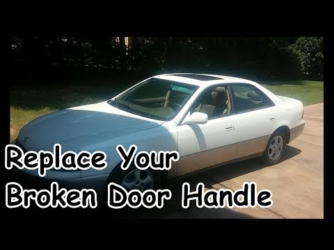 Door Handle Replacement Lexus Es300 Redo Project Youtube