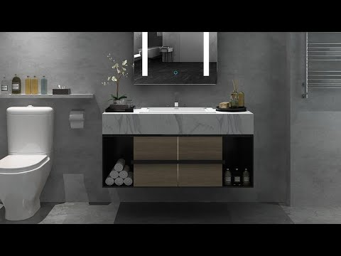 Stylish washroom cabinet design ideas for modern bathroom