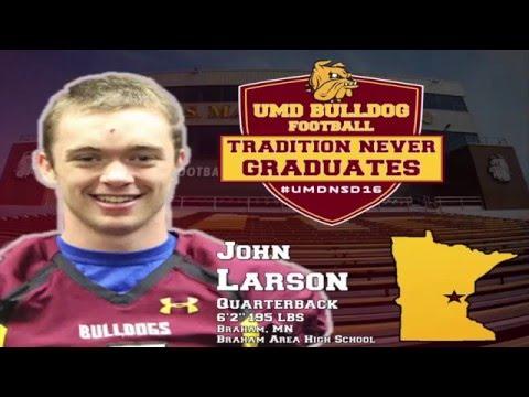 UMD Football National Signing Day 2016: John Larson