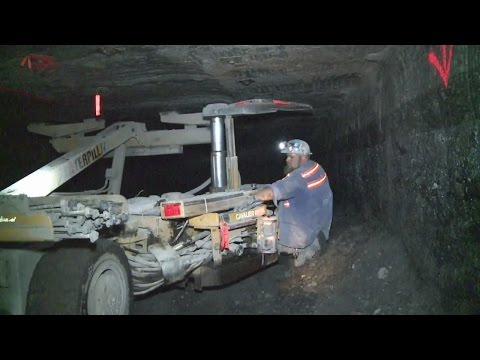 Two Men From California Visit A Coal Mine