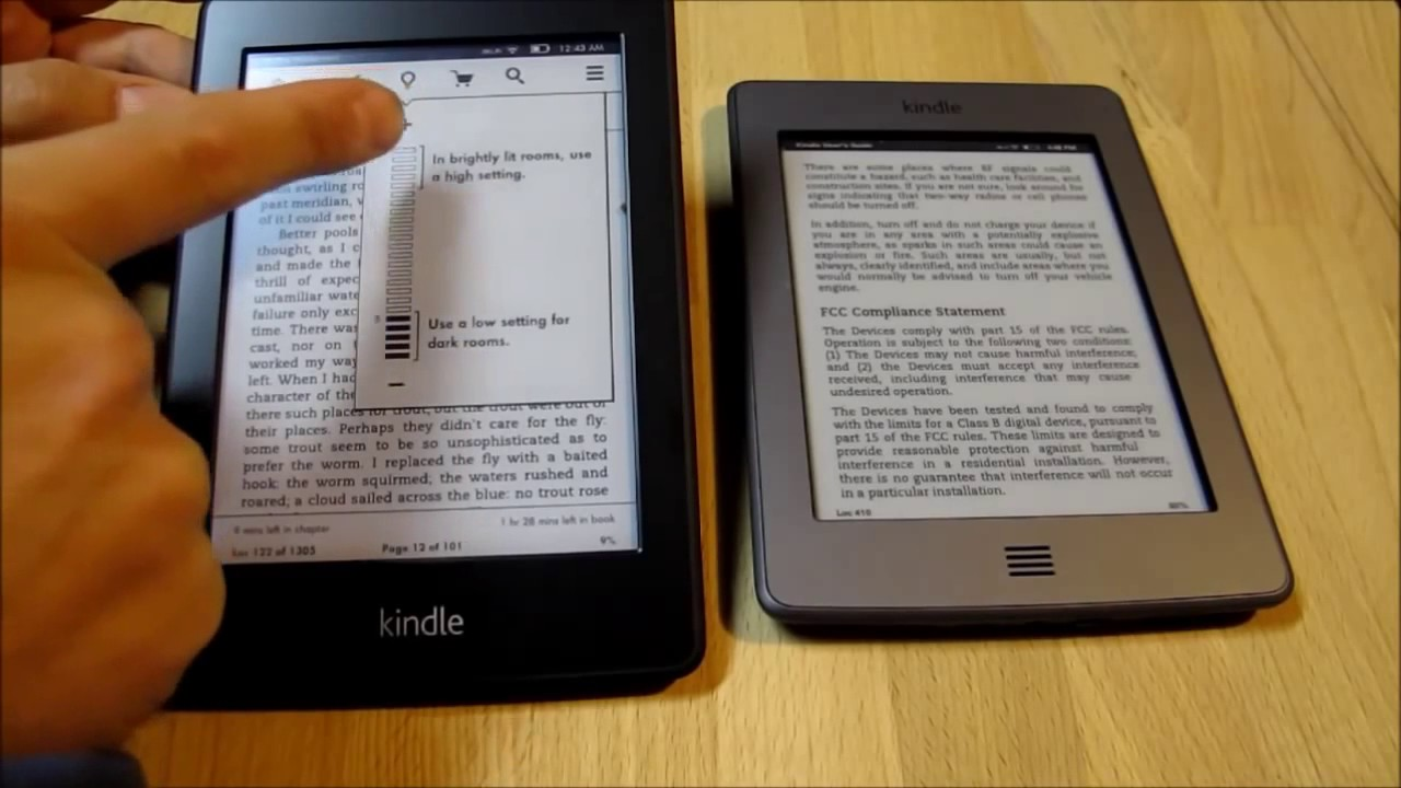 Kindle Paperwhite Light Test- Up close look at the built-in light     in  short, it's pretty awesome