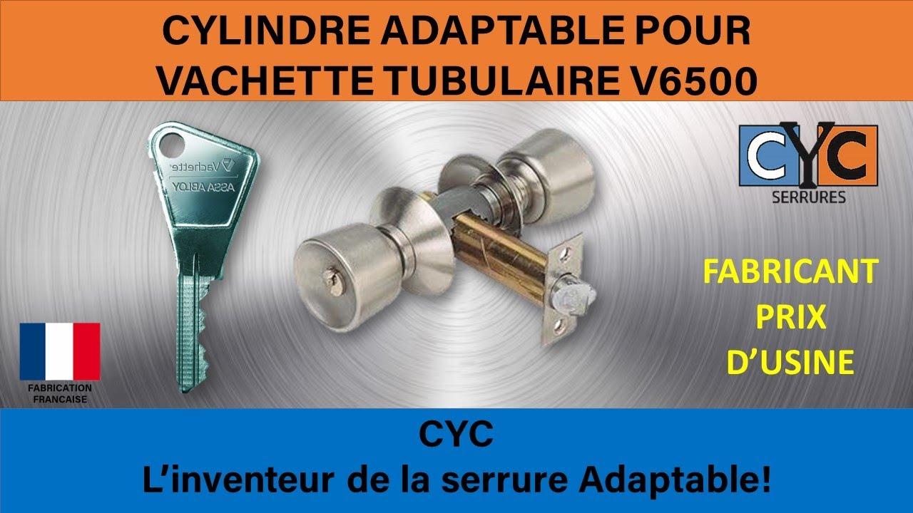 serrure adaptée en clé CYC REF RADIACYC TULIPE - YouTube