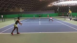 2018兵庫国際ジュニアテニストーナメント1 女子ダブルス準決勝 森岡きら...