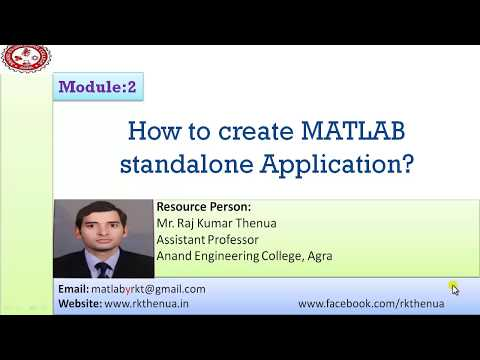 How To Create MATLAB Stand-alone Application