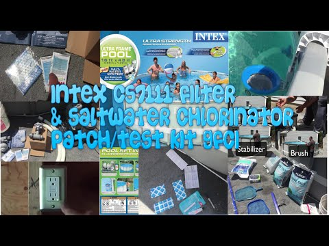 Intex Pool Part 3 16ft x48in Saltwater CS7111 Ultra Frame Part 3 Chlorinator & Filter pump and more