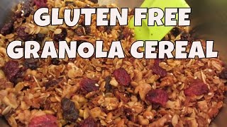 Gluten Free Coconut Granola Cereal ~ Extra Thick Rolled Oats