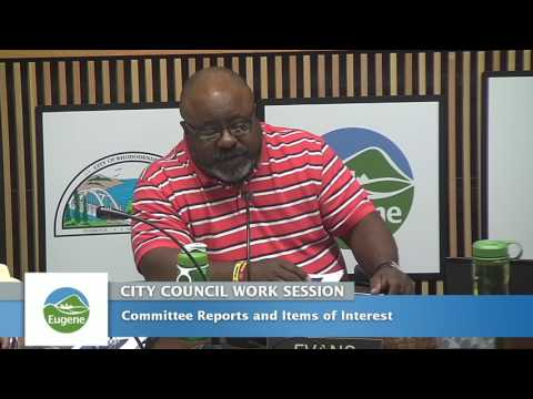 Eugene City Council Wednesday Work Session September 28, 2016