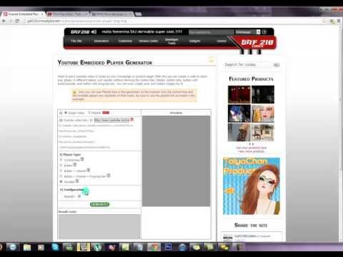 Youtube Embedded HTML5 Player Generator   gaf210Codes