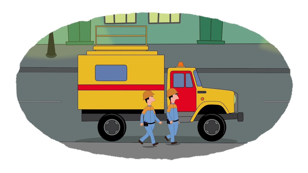 мультик раскраска учим цвета грузовики помощники часть 1