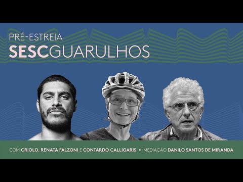 Pré-estreia Sesc Guarulhos com Criolo, Renata Falzoni e Contardo Calligaris