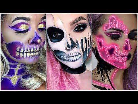 increibles maquillajes para halloween 2017 2 easy halloween makeup tutorial 2017 - Maquillajes De Halloween