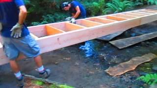 Bridge Construction At Duck Creek On Salt Spring Island