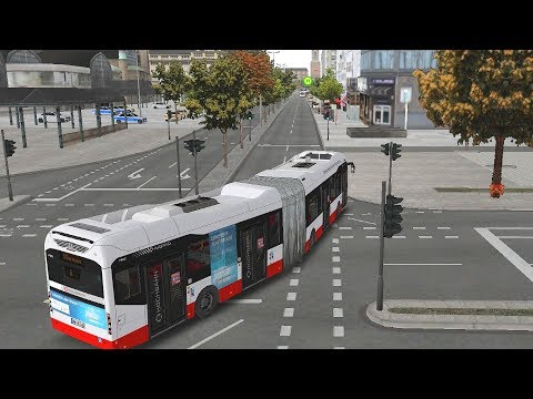 OMSI 2 - HafenCity Hamburg Articulated Hybrid Bus Gameplay! 4K