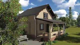 Проект дома 6х6 с отличной планировкой(Реальное исполнение данного дома: Проект 1075. Смотрите подробнее на нашем сайте: http://property-real.ru/the_market_of_real_estate/..., 2014-04-07T04:56:53.000Z)